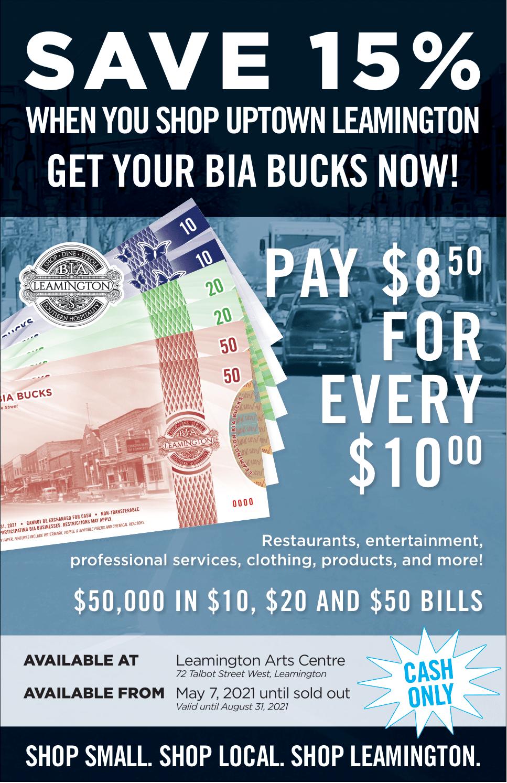 Leamington BIA Bucks Poster